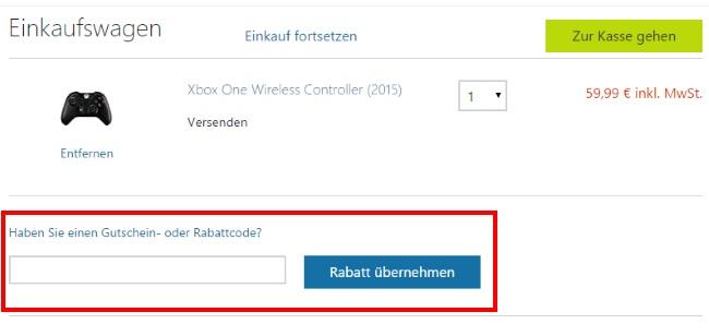 Microsoft Store Gutschein einlösen