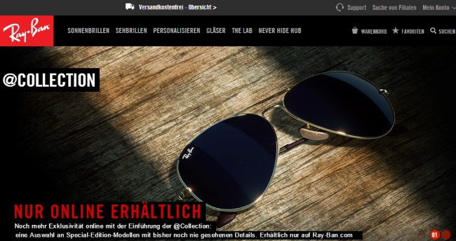Ray Ban Onlineshop