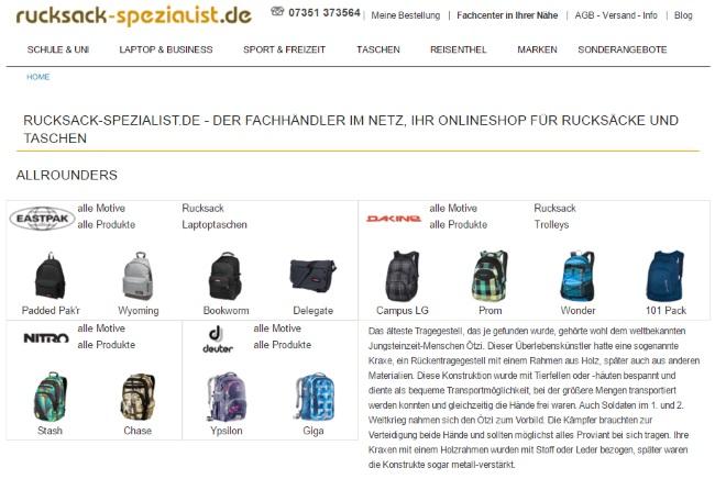 rucksack spezialist gutschein code