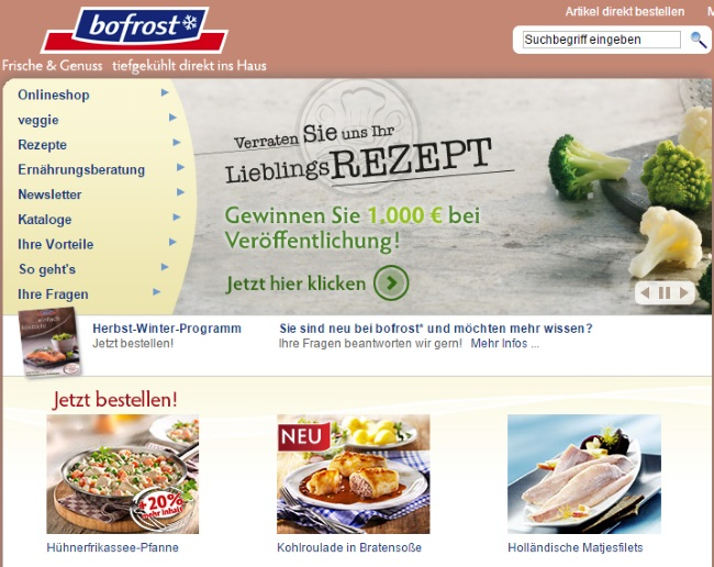 bofrost Onlineshop