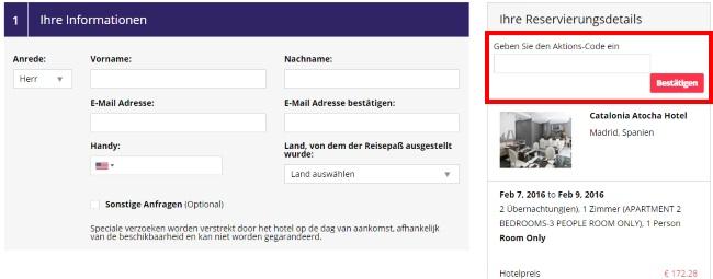 otel.com Gutscheine einlösen