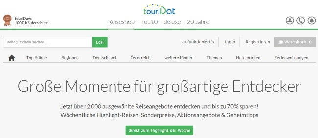 touriDat Onlineshop