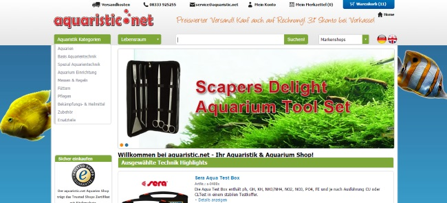Aquaristic.net Onlineshop