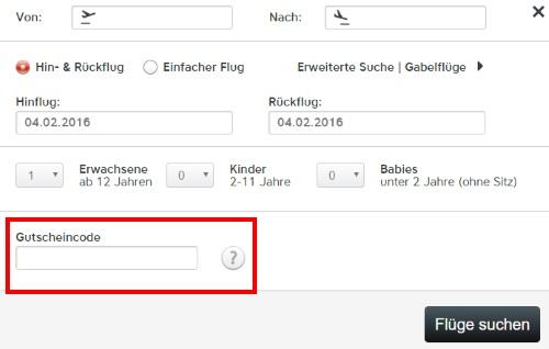 Austrian Airlines Gutschein einlösen