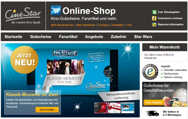 CineStar Onlineshop