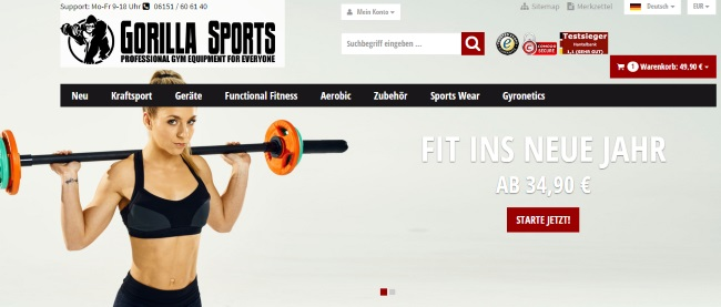 Gorilla Sports Onlineshop