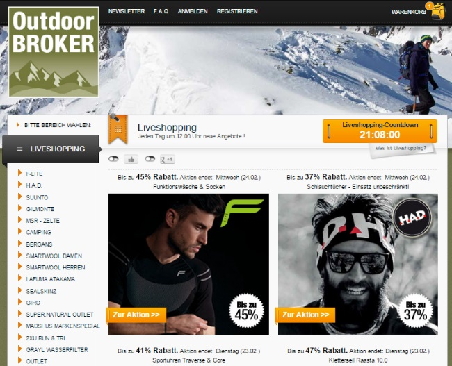 Outdoor Broker Onlineshop