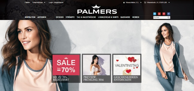 Palmers Onlineshop