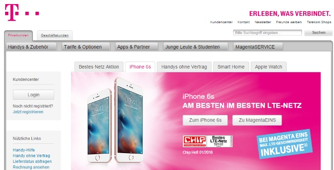 T-Mobile Onlineshop