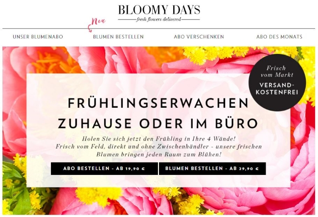 BLOOMY DAYS Onlineshop