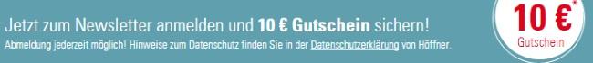 Höffner Gutschein Newsletter