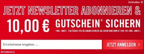 Krähe Gutschein Newsletter