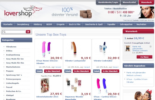 Lovershop Onlineshop
