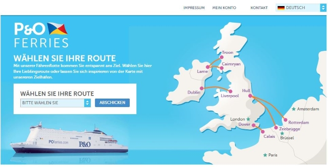 P&O Ferries Onlineshop