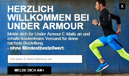 Under Armour Gutschein Newsletter