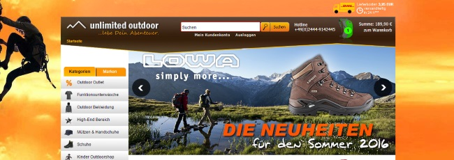 Unlimited Outdoor Onlineshop
