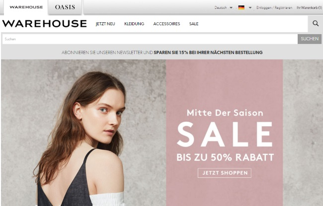 Warehouse Onlineshop