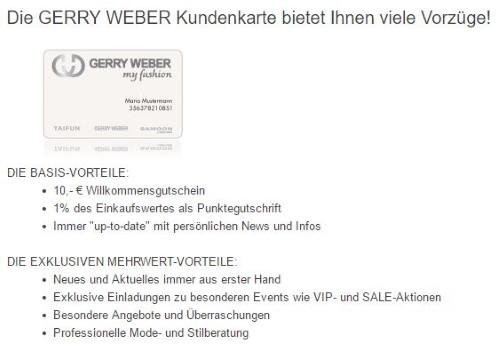 Gerry Weber Gutschein Januar 2019