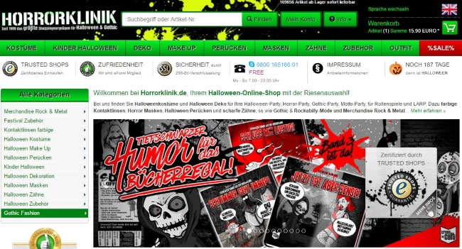Horrorklinik Onlineshop
