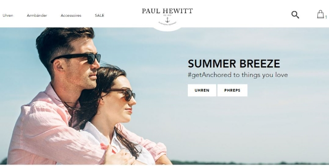 Paul Hewitt Onlineshop