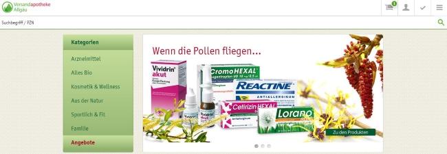 Versandapotheke Allgäu Onlineshop