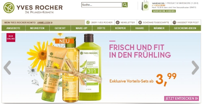 Yves Rocher Onlineshop