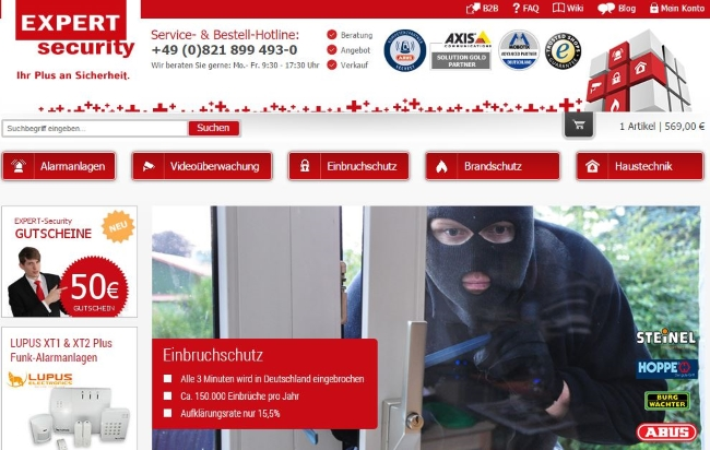 EXPERT-Security Onlineshop