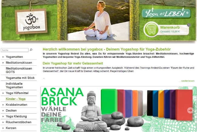 Yogabox Onlineshop