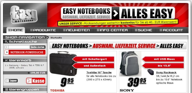 Easynotebooks Onlineshop