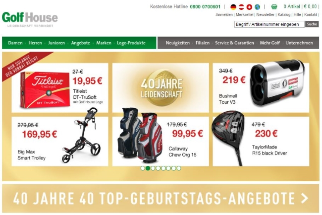 GolfHouse Onlineshop