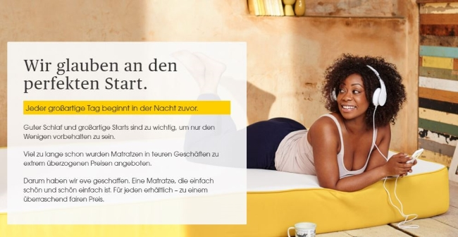 Eve Mattress - der perfekte Start