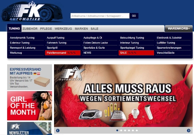 FK Automotive Onlineshop