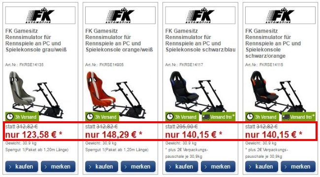 FK Automotive Sale-Angebote