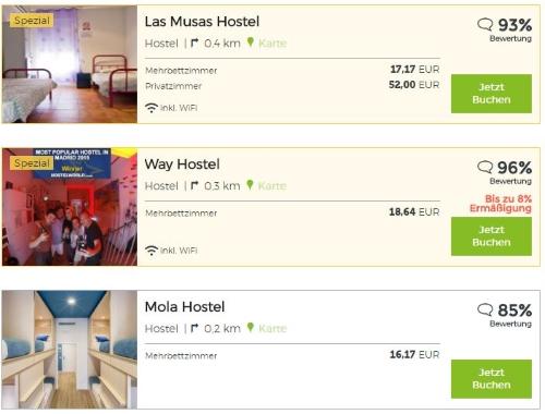 Hostelbookers Hotelübersicht