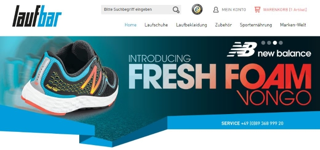 Lauf-Bar Onlineshop