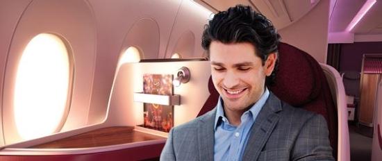 Qatar Airways Geschäftsleute