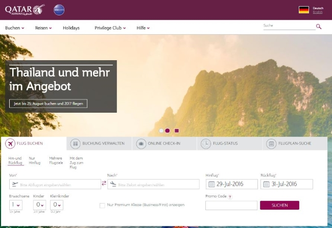 Qatar Airways Onlineshop
