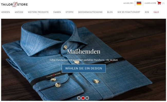 Tailor Store Onlineshop