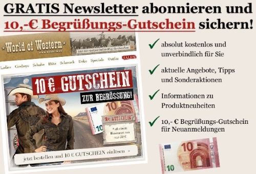 World of Western Gutschein Newsletter