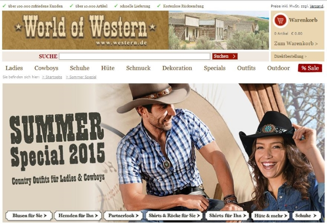 World of Western Onlinestore