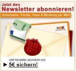 123Möbel Gutschein Newsletter