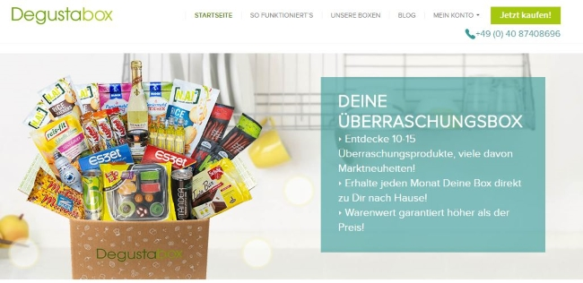 Degustabox Onlineshop