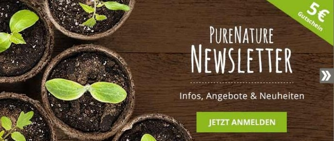 PureNature Gutschein Newsletter