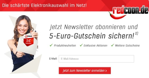 Redcoon Gutschein Newsletter