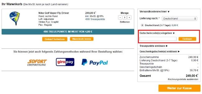 onlinegolf-gutscheincode-einloesen