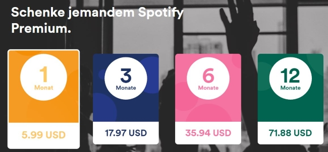 Spotify 3 Monate Premium Code Gutschein