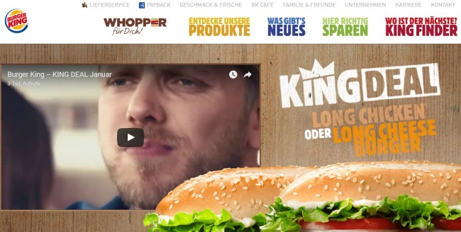Burger King Onlineshop