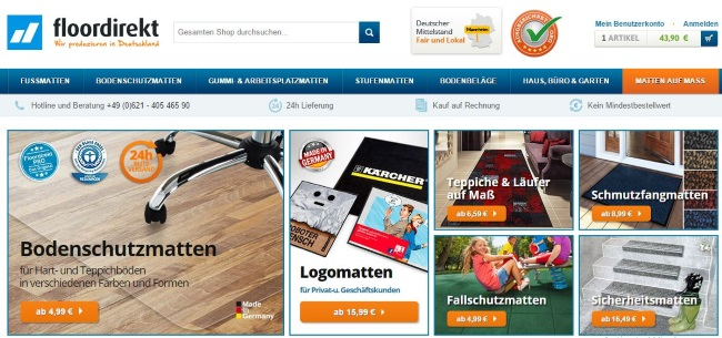 Floordirekt Onlineshop