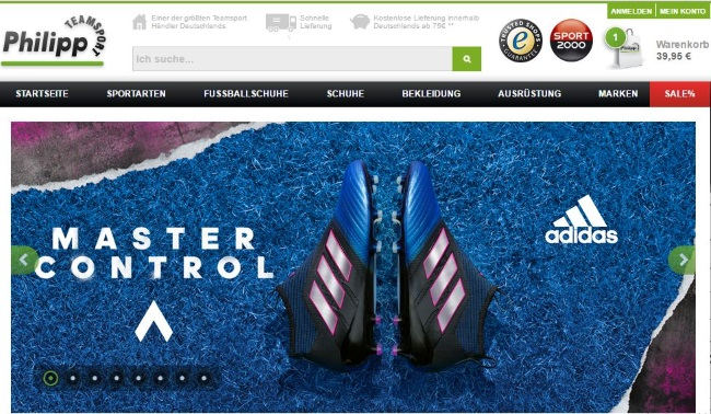 Teamsport Philipp Onlineshop