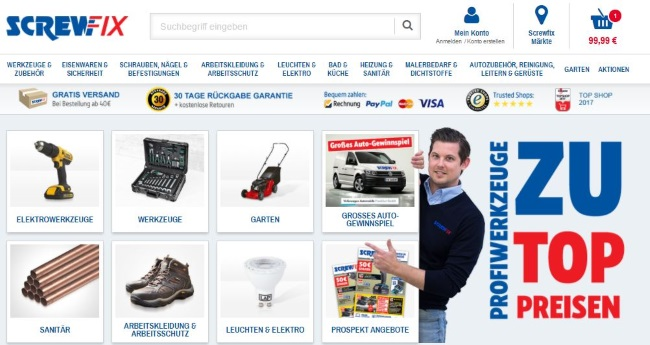 Screwfix Onlineshop